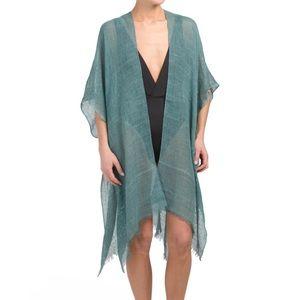 raj sequin embroidered kimono cover up